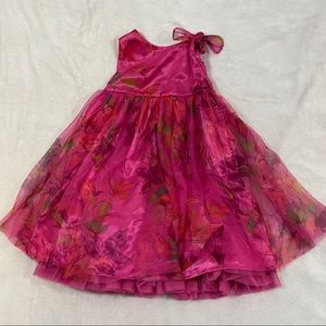 Baby Gap Pink Poofy Layered Formal Floral Dress